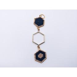 Pendentif hexagones