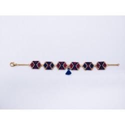 Bracelets hexagones allongés