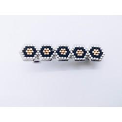 Barrette hexagones