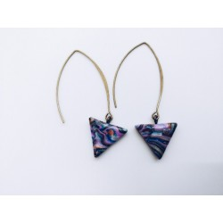 Longues boucles triangles